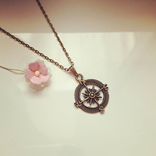 Bronze, compass / maritim / vintage / ethno / hippie / must have / statement / florabella schmuck ()
