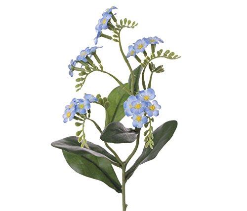 Kunstblume Vergissmeinnicht 24 blau weiß farbige Blüten, Höhe 36cm - Kunstpflanze künstliche Blumen Kunstblumen Blumensträuße künstlich, Seidenblumen oder Blumen aus Plastik Kunststoff </p> --> großes Kunstblumen Sortiment
