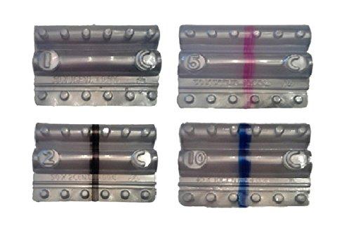 Blister para monedas Euro–Kit 400Blister monedas mezclados de 1Céntimo, 2Centesimi, 5Centesimi y 10Centesimi
