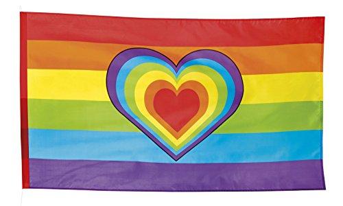 Boland 44721-Bandera arcoiris con corazón