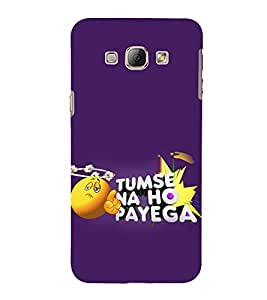 Print Masti Designer Back Case Cover for Samsung Galaxy A5 (2015) :: Samsung Galaxy A5 Duos (2015) :: Samsung Galaxy A5 A500F A500Fu A500M A500Y A500Yz A500F1/A500K/A500S A500Fq A500F/Ds A500G/Ds A500H/Ds A500M/Ds A5000 (Funny Thought Smiley Finger)