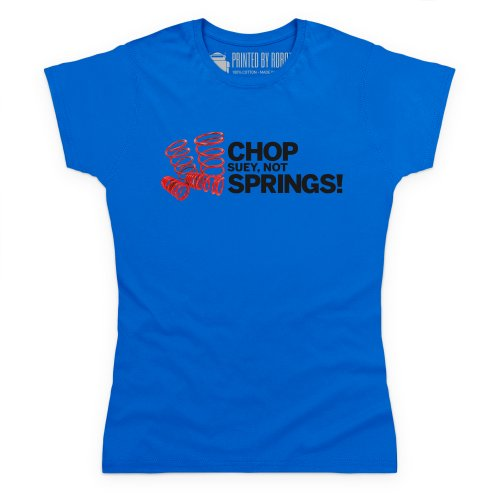 Chop Suey Not Springs T-Shirt, Damen Royalblau