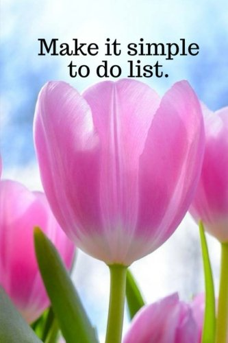 Make it simple to do list.: Pink tulips 120 pages of address, website, user/login and password. Save your create every time you visit a new website all in one place easy to do.