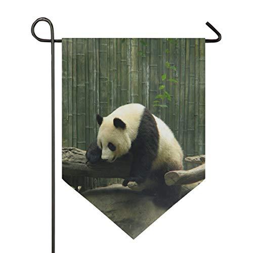 AMONKA Süße Panda-Flagge aus Bambus, Wald, doppelseitig, Polyester, Hofflagge für Zuhause, Haus, Außendekoration, 30,5 x 45,7 cm, Polyester, Multi, 28x40 Inch