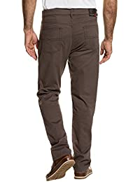 JP 1880 Herren große Größen bis 66 | 5-Pocket-Hose | Regular Fit, Zipper | Gürtelschlaufen, Minimalmuster | dunkelbraun, Baumwolle | 711455