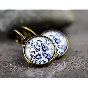 """""""Orientalische Fliesen"""" Bronze Ohrhänger"""