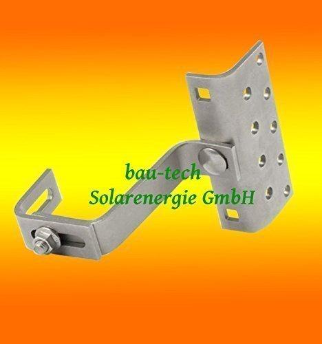 20 Stück Dachhaken A2 3 fach verstellbar für Dachpfannen Solar PV Photovoltaik Montage von bau-tech Solarenergie GmbH