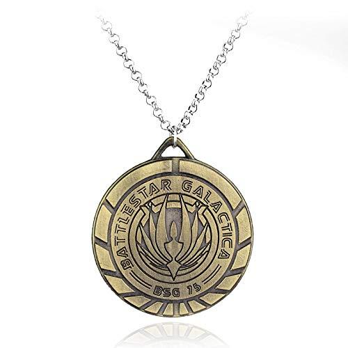 Herren Battlestar Galactica Bsg Logo Anhänger Halsketten Cowboy Metall Cosplay Halskette