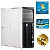 PC COMPUTER TOWER SERVER WORKSTATION HP Z400 (Ricondizionato Garantito) INTEL QUAD CORE XEON RAM 4GB HDD 500GB DVD-RW SCHEDA VIDEO 1GB | WINDOWS 7 INSTALLATO ED ATTIVATO CON LICENZA [ETICHETTA COA]