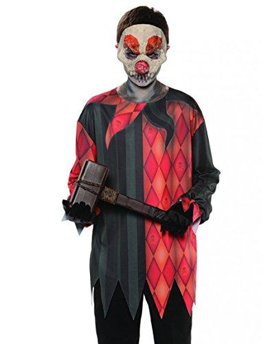 Evil Clown-Oberteil-RealPhoto- Kinder Gr. (Kostüm Halloween Hammer)