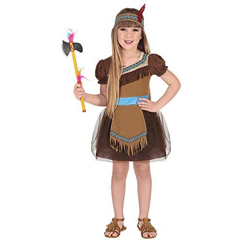 Kostüm Stammes Themen - WIDMANN 02039 Kinderkostüm Indianerin, Braun, Türkis, 116