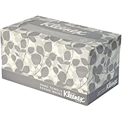 Kleenex Facial Tissue Box, Imported High Quality Pop-Up Hand and Face Towel (120 Towel, Pack of 18) 17011 by Kimberly-Clark