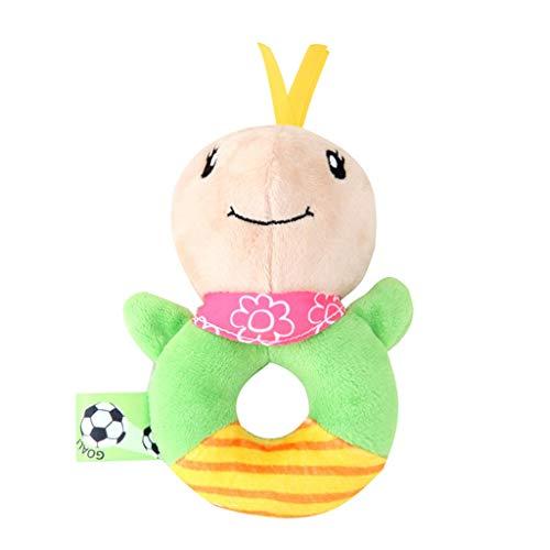 Plüsch Bildung Squishy Spielzeug aufblasbares Spielzeug im Freien Spielzeug,Tierhandglocken-Baby-weiche Spielwaren-Rassel-Bett scherzt Griff-Spielzeug ()