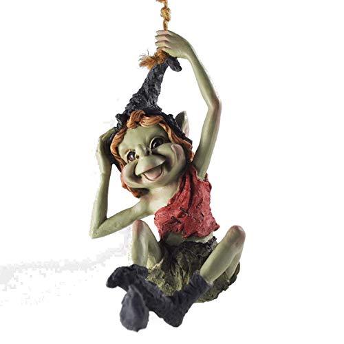 Pixie suspendu sur corde, décoration à suspendre - Vert Jardin Home Decor  Figurine cadeau fun - - Anthony Fisher