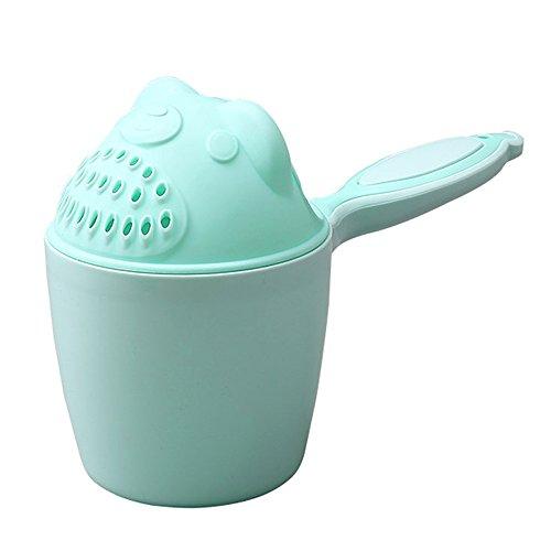 Baby Badespielzeug, Isuper Baby Gießkanne Cartoon Bade Tasse für Babys und Kleinkinder Guter Helfer für Vergnügtes Baden (Grün) Tasse Baby-tassen