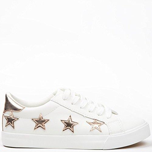 Ideal Shoes, Damen Sneaker Champagne