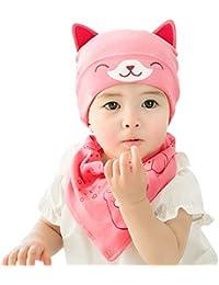 DORRISO Bambino Cappellini con Bavaglino Primavera Autunno Invernale Carina  Piccolo Cartone Animato Beanie Cappelli. e0046a811036