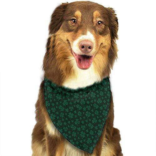 Wfispiy St. Patrick's Day Shamrock Muster weicher Baumwolle Klassische Tiere Bandana Haustier Hund Katze Dreieck Lätzchen