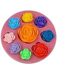 Auket Divers Rose Fondant savon sucre Artisanat Gâteau décoration de biscuits de moule de silicone # 132