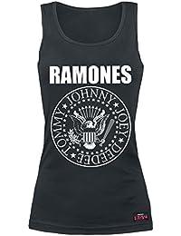 Ramones Seal Top Mujer Negro