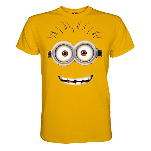 d4cc8886bf36 King of Merch - Herren T-Shirt - Minions Goggle Face Kevin   Phil Agnes