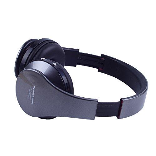Top-Longer Bluetooth 3.0 EDR Tiefe Bass Wireless Stereo Bluetooth Kopfhörer Noise Cancelling Kopfhörer mit Mic,Unterstützungs TF Karte, FM Radio. Gray - 6