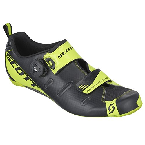 Scott Tri Triathlon Bicycle Shoes Color Black / Yellow 2016 Black Black and Neon Yellow Size: 46