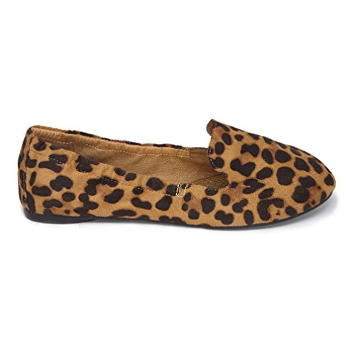 5f3c1ef3fa2 Cocorose Foldable Shoes - Carnaby Ladies Loafers - Leopard Print - Size 7