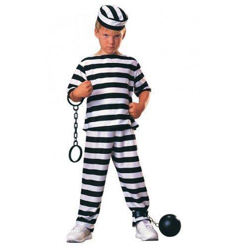 ngene Räuber überführen Einbrecher Bill büchertag Halloween Kostüm verkleiden Outfit 3 - 10 Jahre - Schwarz, Schwarz, 3-4 Years (Kind Gefangener Kostüm)