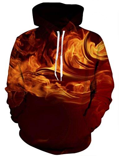 LAIDIPAS Unisex 3D Gedruckte Sweatshirts Galaxy Langarm Pullover Grafik Tier Kapuzenpullover M (Kanada T-shirt Unisex)