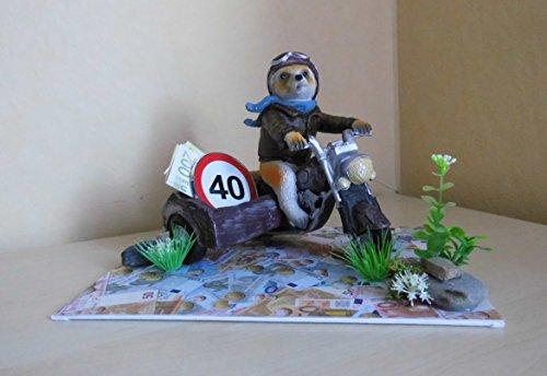 Geldgeschenk Z Geburtstag Motorrad Seitenwagen 40 50 60 70