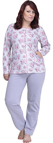 Merry Style Pyjama Femme en Grande Taille 1043 Gris/Rot
