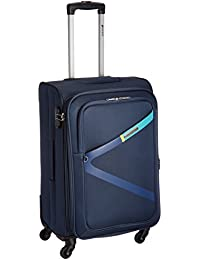Safari Polyester 64.5 cms Blue Softsided Suitcase (Greater-4wh-65-Blue)