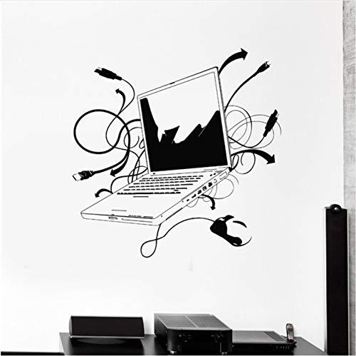 Fushoulu 57X66Cm Computer Vinyl Wandaufkleber Laptop Computer Online Internet Gamer It Spiel Zimmer Wandbild Kunst Wandtattoo Büro Zimmer Dekoration