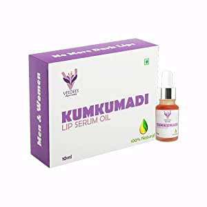 VEEDEES Kumkumadi Lip Serum Oil Lightening Brightening Softening Dark Lips for Men and Women, 10ml
