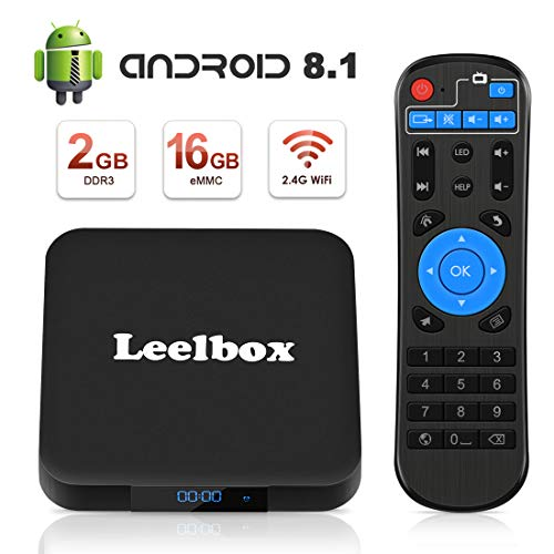[Android 8.1 TV-Box] Leelbox Smart-TV-Box Q2 MINI Quad Core 2 GB RAM + 16 GB ROM/ 4K * 2K UHD H.265/ HDMI/USB * 2/ WLAN-Media-Player/Android-Set-Top-Box