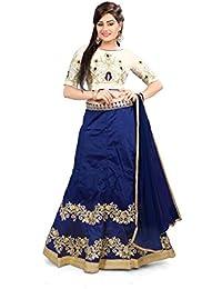 Shree Rang Creation Women's Blue Designer Taffeta Silk Lehenga Choli(AFL-29_Blue_Free Size)