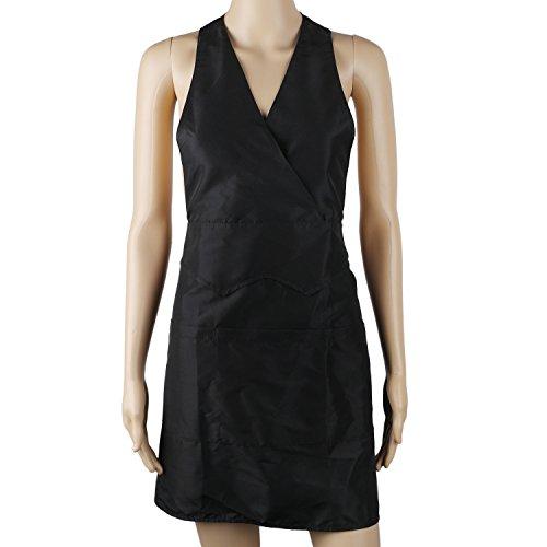 Spa-uniformen (Segbeauty® 3-Tasche Schwarz Arbeitsschürze Kellnerin Schürze, Restaurantküche Kochschürze, Tuxedo Schürze Uniform für Stylisten Hundesalon Barbiere Spa Salon)