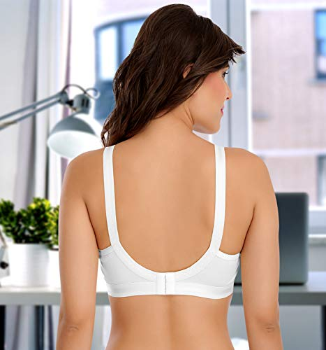 SONA Women's Cotton Perfecto Full Coverage Non Padded Bra (White_38c) Pack of 1
