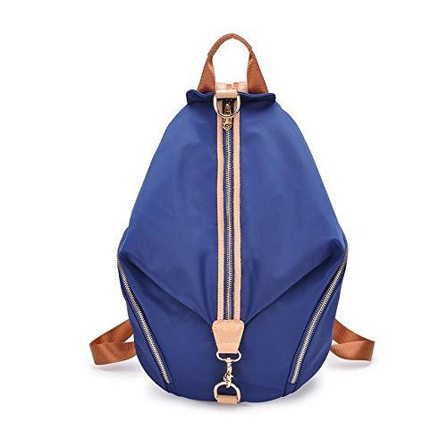 YZJLQML Damentasche DamenbekleidungCasual Rucksack Wild Oxford Stoffrucksack - blau