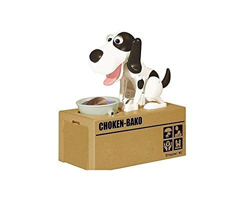 Preisvergleich Produktbild ANKKO Hund hübsch stehlen Geld Money Box Sparschwein Geld Sparbüchse - schwarz weiß