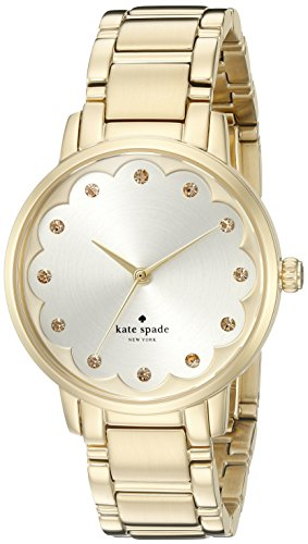 Kate Spade Women's Gold Tone Steel Bracelet & Case Quartz Gold-Tone Dial Analog Watch KSW1047