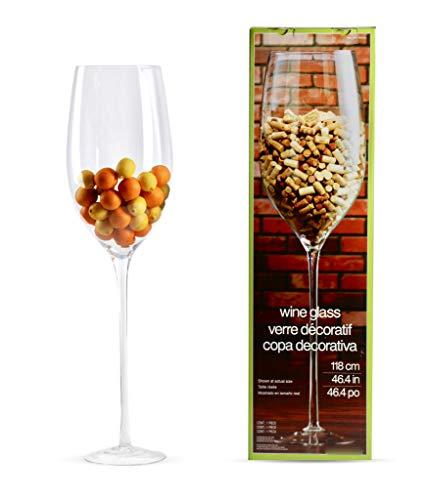 Vaso de vino de gran tamaño REALMENTE GRANDE, elegante florero para impresionar en la decoración de la sala de estar, regalo ideal 118cm