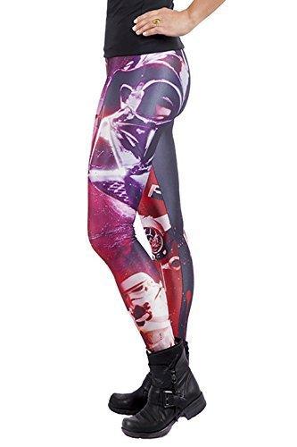 Official Star Wars Leggings Donna Elasticizzato Elasticizzato Nuovo Donne Jeggings - Vader Portrait, M