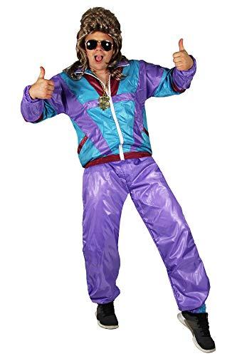 Foxxeo Trainingsanzug 80er 90er Jahre Bad Taste Proll Kostüm Karneval Assi Verkleidung Größe XXXXL