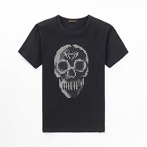 GXSCE-Camiseta Manga Corta con Cuello Redondo, Manga Corta para Hombres de...