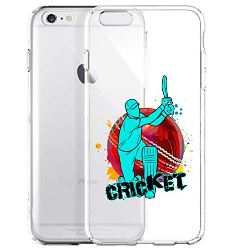 GlamCase Schutzhülle für iPhone 6 Plus/iPhone 6S Plus, Motiv Cricket-Spieler, transparent