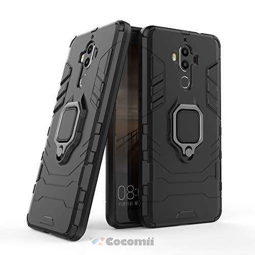 Cocomii Black Panther Armor Huawei Mate 9 Funda Nuevo [Robusto] Táctico  Anillo Metálico Sujeción Soporte [Funciona con El Montaje De Coche