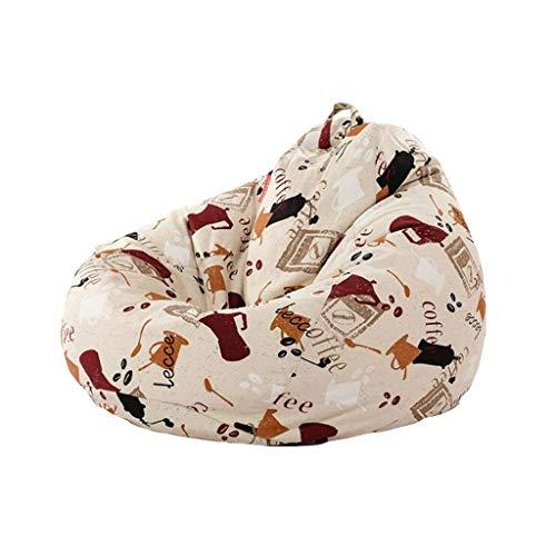 LKP Erwachsene Hohe Rückseitige Beanbag-Recliner Gaming Bean Bag Kinder Bean Bags Outdoor Bodenkissen EPP Wohnzimmer Liege (Color : A, Size : M (80 * 90))