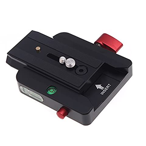 Andoer Rapid Connect with Sliding Mounting Adapter Plate Klemme 501PL 200PL - 14 Schnellwechseladapter mit Manfrotto für Teller Stativ-Panoramakopf